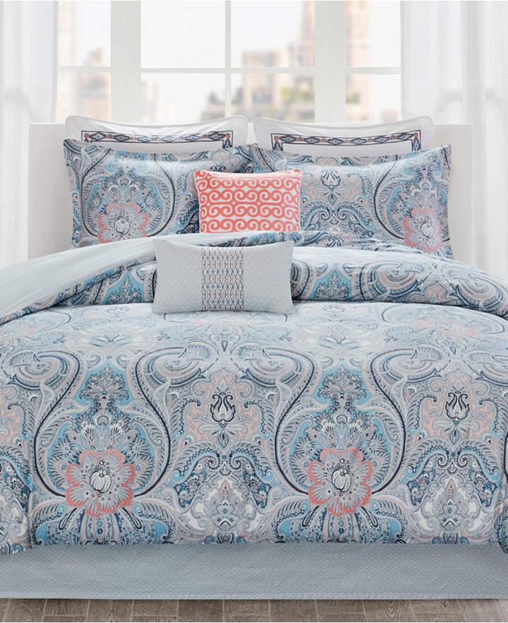 Avalon Cotton Reversible 2-Pc. Twin Duvet Cover Set Bedding