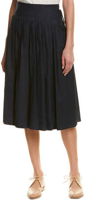 Vince Pleated Wrap Skirt