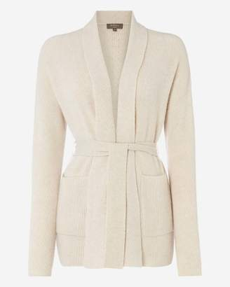 N.Peal Shawl Collar Belted Cashmere Cardigan