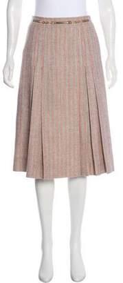Celine Wool Pleated Skirt