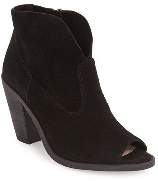 Jessica Simpson Open Toe Zip Bootie (Women) $118.95 thestylecure.com
