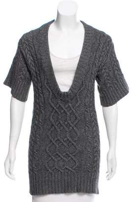 Autumn Cashmere Cashmere-Blend Cable Knit Tunic