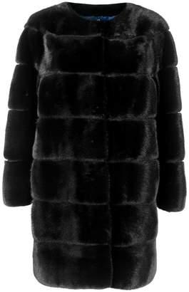 Liska collarless paneled coat