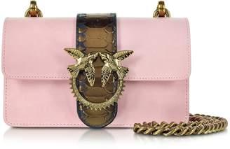 Pinko Light Pink Mini Love Python Western Shoulder Bag