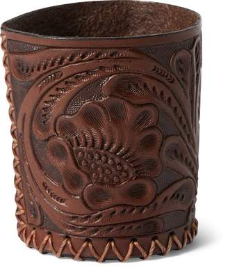 Ralph Lauren Hand-Tooled Leather Cup