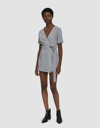 Stelen Breanna Plaid Wrap Romper