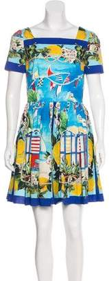 Dolce & Gabbana Short Sleeve Portofino Dress