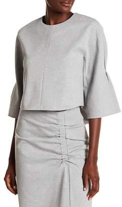 Tibi 3/4 Bell Sleeve Knit Blouse