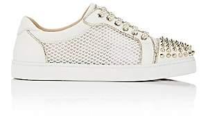 Christian Louboutin Women's AC Viera Spikes Flat Leather & Mesh Sneakers - White