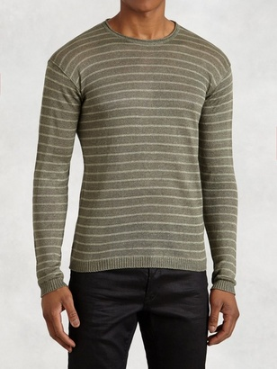 Striped Long Sleeve Crew $198 thestylecure.com
