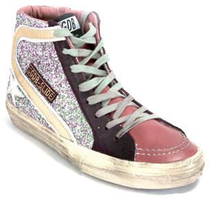 Golden Goose Slide T7 - Cinamon Glitter Hi Top Sneaker