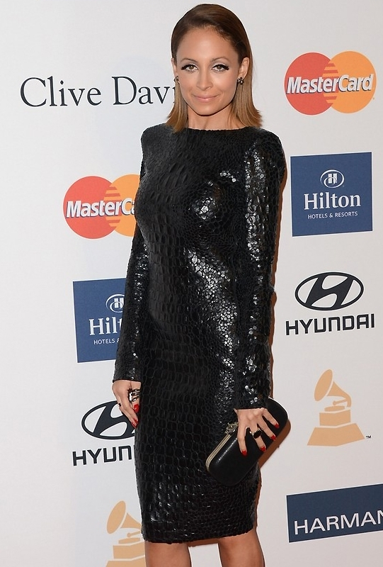 House Of Harlow Addison Clutch in Black as Seen On Nicole Richie