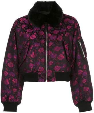 Comme des Garcons floral bomber jacket
