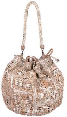 Ermanno Scervino Ornate Pattern Leather Hobo