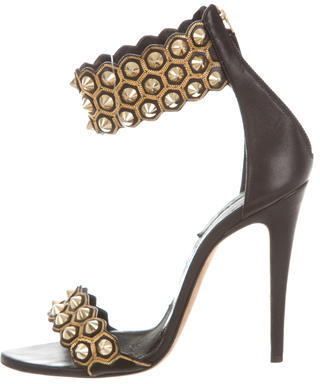 Brian Atwood Studded Leather Sandals $175 thestylecure.com