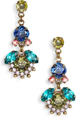 Sorrelli California Poppy Crystal Drop Earrings