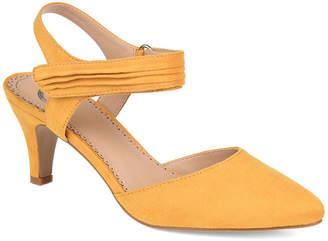 Journee Collection Womens Joni Pumps Pointed Toe Block Heel