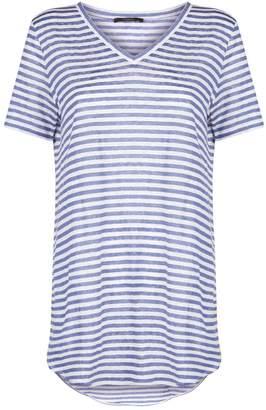 Max Mara Stripe V-Neck T-Shirt