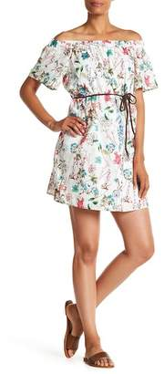Sanctuary Muscari Floral Printed Off-the-Shoulder Dress