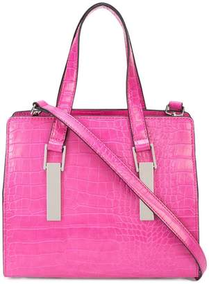 Christian Siriano crocodile-embossed tote bag