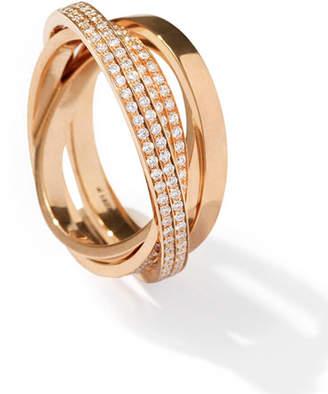 Repossi Technical Berbè;re Diamond Ring in 18K Rose Gold