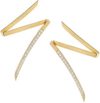 Lana 14k Gold Flawless Diamond Lightning Bolt Earrings