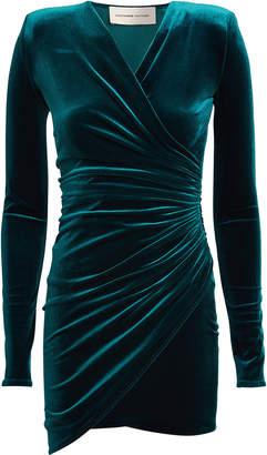 Alexandre Vauthier Velvet Wrap Mini Dress