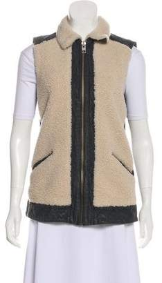 AllSaints Shearling Accented Vest