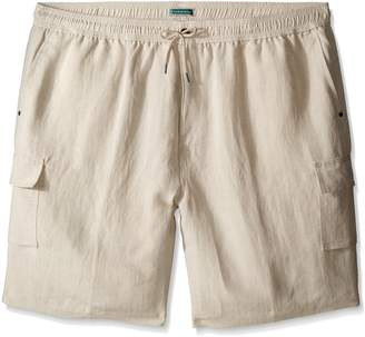 Cubavera Cuba Vera Men's Big-Tall Men's Elastic Drawstring Cargo Short