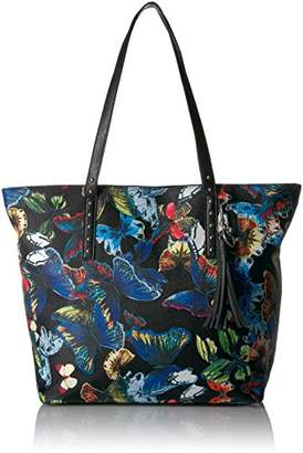 At Bueno Of California Faux Leather Printed Tote