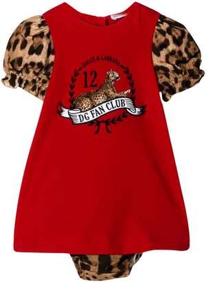 Dolce & Gabbana Red Dolce E Gabbana Kids Newborn Dress