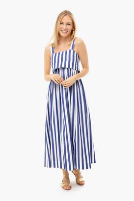 Isa Belle Whit Blue Striped Isabelle Dress