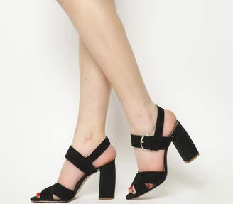 Office Nigella Cross Strap Block Heels