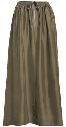 Joseph Flint Gathered Silk-Satin Midi Skirt