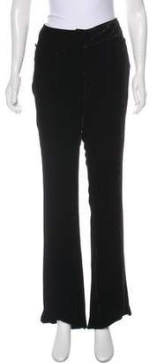 John Galliano Mid-Rise Velvet Pants