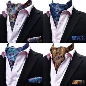 At Canada Mohslee Men S Pailey Fl 4pcs Cravat Ascot Wedding Tie Necktie Pocket Square Set