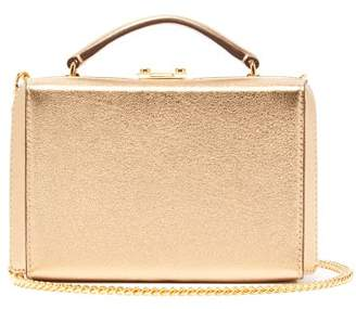 Mark Cross Grace Gold Plated Mini Leather Cross Body Bag - Womens - Gold