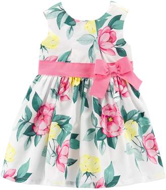 742c7c2068b Carter s Baby Girl Floral Bow dress
