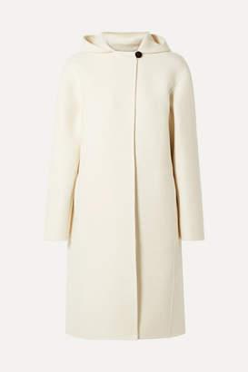 Theory Hooded Wool-blend Felt Coat - Cream