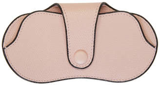 Valextra Pink Leather Glasses Case