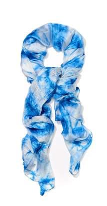 J.Mclaughlin Tyra Silk Scarf in Tie Dye