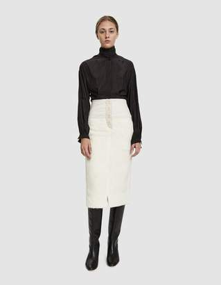 Lemaire Straight Hairy Skirt