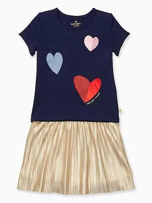 Kate Spade Toddler tossed hearts skirt set