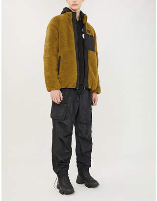 McQ Patch-pocket faux-shearling jacket