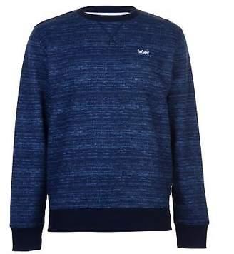 Lee Cooper Mens Textured AOP Crew Sweater Jumper Pullover Long Sleeve Neck