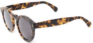 Illesteva Leonard Round Monochromatic Sunglasses, Tortoise
