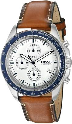 Fossil Men's CH3029 Sport 54 Chronograph Leather Watch