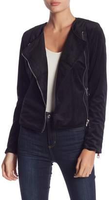 Romeo & Juliet Couture Velvet Asymmetrical Zip Jacket
