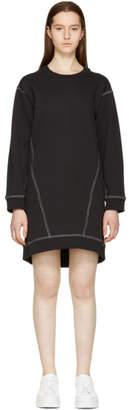 MM6 MAISON MARGIELA Black Basic Sweatshirt Dress