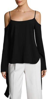 BCBGMAXAZRIA Cold-Shoulder Bell Sleeve Top